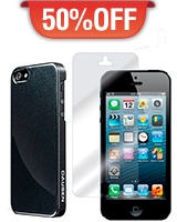 Iphone 5S Case Black + HD Screen Protector - Dausen