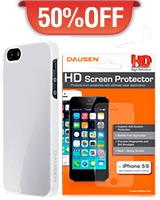 Iphone 5S Case White + HD Screen Protector - Dausen