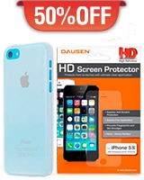 iPhone 5C Air Shell Case + iPhone 5s/5 HD Screen Protector - Dausen