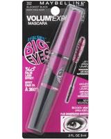 Volum' Express Mega Plush Mascara 9ml 202 Blackest Black - Maybelline
