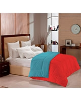 Double face cotton winter quilt Red x Dusk Blue - Comfort