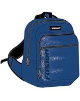 FBLU-03 مقاس 16 بوصة بلو بلاك رقم Fusion Blue  شنطة مدرسية ظهر + مقلمة