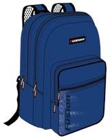 FBLU-07 مقاس 18.5 بوصة بلو بلآك رقم Fusion Blue  شنطة مدرسية ظهر + مقلمة