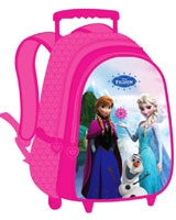 FJH-1008 مقاس 16 بوصة رقم Frozen Journey Of Happiness  شنطة مدرسية ترولى