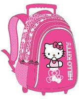 HK-862004 مقاس 18 بوصة رقم Hello Kitty  شنطة مدرسية ترولى