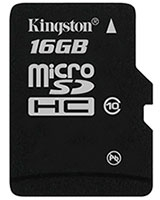 Micro SDHC Card 16 GB Class 10 SDC1016GB - Kingston
