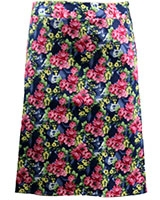Floral Jeans Skirt SK403 Multicolor Blue - Giro