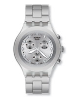 Full Blooded Silver Stainless Steel Bracelet Watch - Swatch