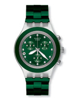 Irony Diaphane Chrono Full Blooded Green Watch SVCK4043AG - Swatch