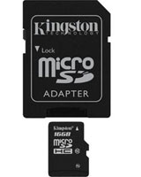 microSDHC Class 4 Flash Card 16GB - Kingstone