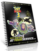 Toy Story 3 كشكول 100 ورقة مربعات 1/2 سم مقاس 20*28