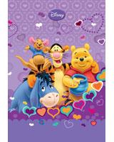 Winnie & Friends كشكول 200 ورقة سلك مسطر غلاف هارد مقاس 20*28