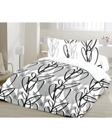 Sketch Design White x Black Flat Bed Sheet - Comfort