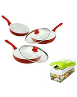 Set of 3 Pieces Ceramic Pan + Nicer Dicer