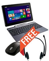 Transformer Book T100 Atom Z3740/ 2G/ 32G eMMC/ Integrated/ Win8 - Asus + Free Microsoft LX-1000 Speaker & Wireless Mouse 1000