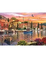 Puzzle 2000 Harbor Sunset - KS Games
