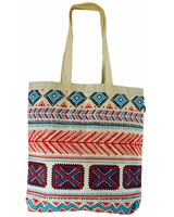 Tribal canvas tote bag Off-white - Ultimate