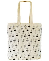 Belly Mustache canvas tote bag Off-white - Ultimate