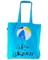 Life's a Beach canvas tote bag Light Sky Blue - Ultimate