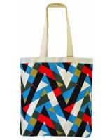 Geometric Ornament canvas tote Bag Off-white - Ultimate