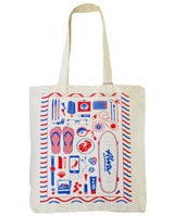 Summer Essentials canvas tote Bag Off-white - Ultimate