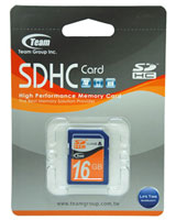 SDHC Class 4 16GB TSDHC16GCL401 - Team