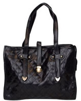 Quilted Shoulder Bag With Chai Black - Walkies
