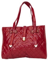 Quilted Shoulder Bag With Chai Red - Walkies