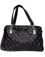 Quilted Shoulder Bag Black - Walkies