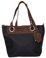 Duo Tone Handbag Black - Walkies