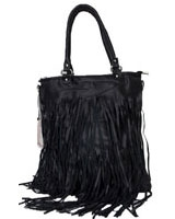 Shreded Handbag Black - Walkies