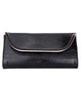 Clutch With Metal Frame Black - Walkies
