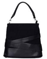 Leather Strap Handbag Black - Walkies