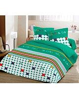 Winter supreme fiber quilt Night and Day design Emerald  - Comfort