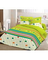 Printed fitted bed sheet Night and Day design Tender Shoot - Comfort