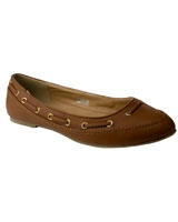 Ballerina With Leather Strap Brown - Walkies