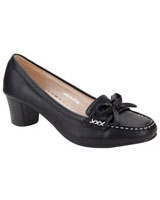 Block Heel Loafer Pump Black - Walkies