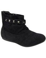 Ankle Boot With Metal Black - Walkies