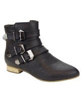 Ankle Boot With Band Black - Walkies