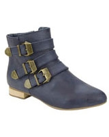 Ankle Boot With Band Navy - Walkies