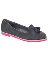 Round Toe Loafer Grey - Walkies