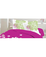 Pillowcase Bella design Fushia red - Comfort