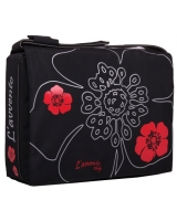 "Messanger Bags fits up to 15.6"" Laptops  BG123 Red flower - L'avvento"