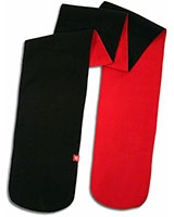 Double Face Scarf Black Red - KAF
