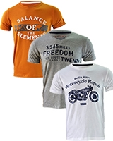 Three Printed T-shirts Bundle B - Dandy