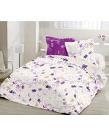 Country Style Design Dark mauve Fitted Bed Sheet - Comfort
