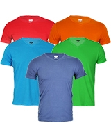 Package of 5 V-Neck Basic T-Shirt - Dandy