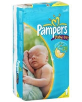 Diaper Size 1 (4-6 kg) 50 Pieces - Pampers