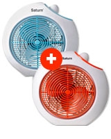 Two Pieces of Fan Heater ST-HT8355 - Saturn