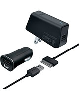 MobiSeal Deluxe Combo USB Charging Kit for Galaxy Tab IAD578BLK - iLuv